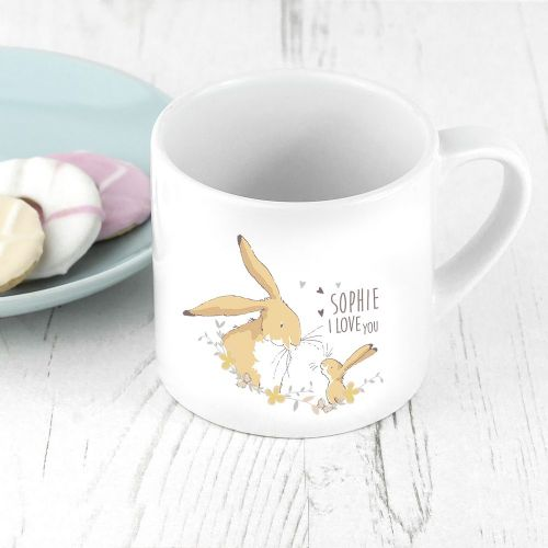 Personalised Guess How Much I Love You Spring Hare Babyccino Mug